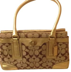 Coach Great Condition Satchel in Khaki Tan /gold Trim