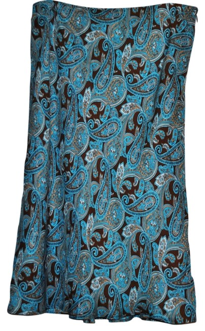 Preload https://item3.tradesy.com/images/inc-skirt-turquoise-and-brown-paisley-785387-0-0.jpg?width=400&height=650