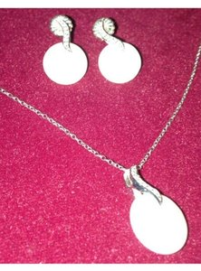 Other Sterling Silver, Diamond Bits And Authentic Mabe Pearls Set