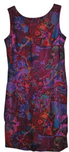 Marsha Brandner for Componix short dress Multi Deep Fushia with lavendars and blues on Tradesy