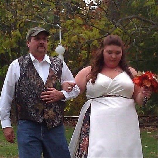 Mossy Oak Wedding Dresses: Custom Made Ivory/mossy Oak Camo Wedding Dress