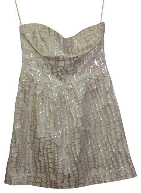 American Eagle Outfitters short dress Beige/Metallic on Tradesy