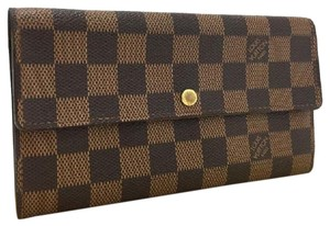 Louis Vuitton Damier Signature Monogram Ebene Luxury Sarah Wallet