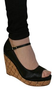 Steve Madden Wedge Fabric Black Wedges
