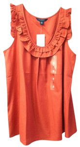 Tommy Hilfiger Flowy Nwt Sexy Spring Top Terracotta Red