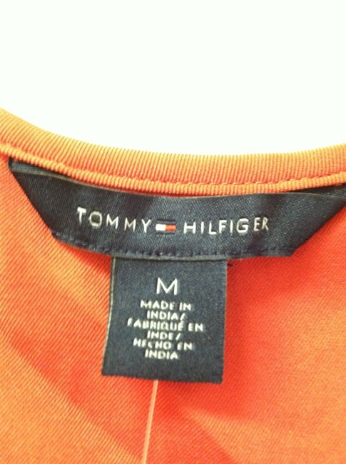 Tommy Hilfiger Flowy Nwt Sexy Red Spring Summer Fall Winyer Versatile Classic Flirty Loose Ruffle Cap Sleeve Date Night Girls Church Top Terracotta Red
