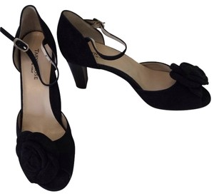Taryn Rose Black Suede Sandals