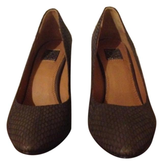 Item - Dark Grey. Dark Brown Heel Coconut Wedges Size US 8 Regular (M, B)