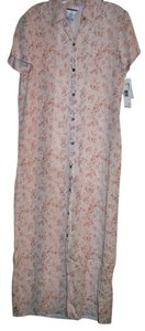 Soft Pink background with Floral Maxi Dress by Jones & company Co 100% Rayon