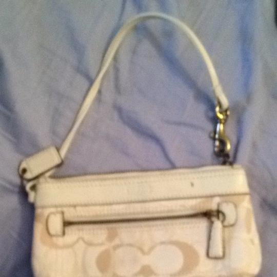 Coach Logo Designer Wristlet in Off-white/cream