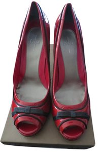 Paolo Red Patent Pumps