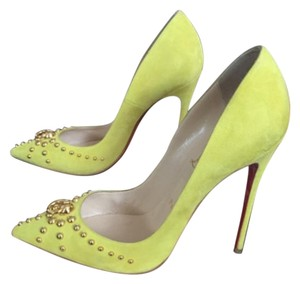 Christian Louboutin Yellow/Gold Pumps