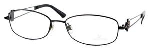 Swarovski Women's Eyeglasses Black Metal Frame with Crystals