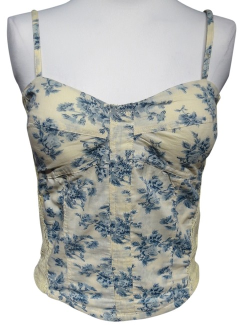 Angie Top Blue Floral
