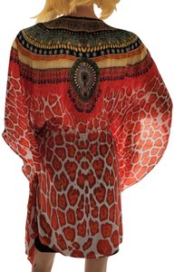 Shahida Parides Orange Swim Cover Up
