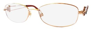Swarovski Women's Eyeglasses Light Gold Metal Frame with Crystals