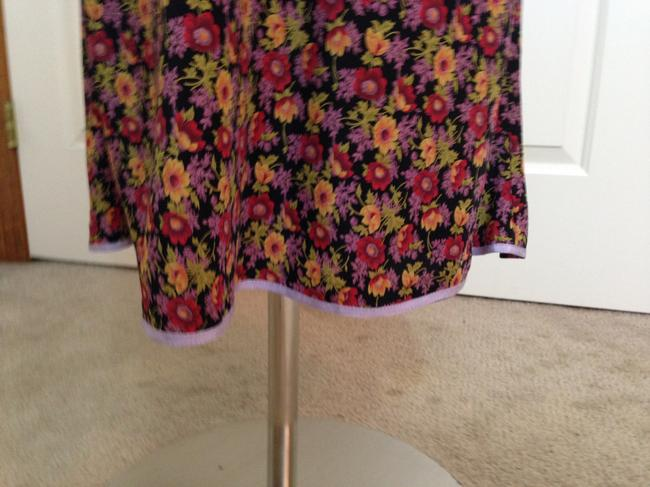 Betsey Johnson Floral Empire Waist Silk Dress