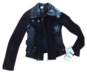 June Black leather Leather Jacket