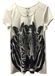 Express T Shirt White and black