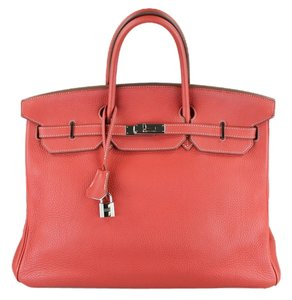 Hermès Tote in Red/Pink/Orange