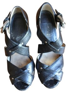 Michael Kors Black Leather Sandals