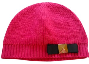 Kate Spade Kate Spade Pink Hat With Black Bow