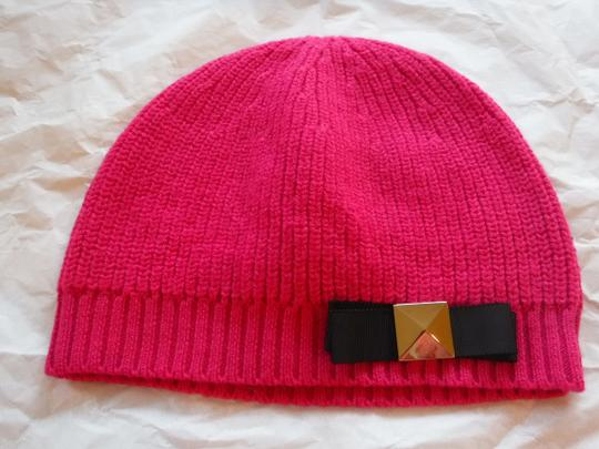 Kate Spade Kate Spade Pink Hat With Black Bow Image 1