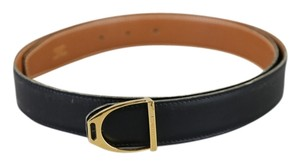 Hermès * Hermes Black Leather Belt 1996 - Size 37.4