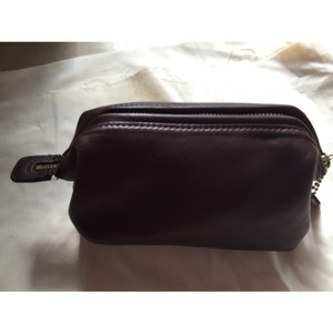 Vintage Black Leather Crossbody Coach Bag Brown Travel