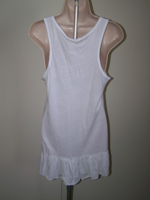 Ambiance Apparel short dress White Ruffle Sleeveless Medium Junior on Tradesy