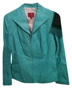 Cole Haan Turquoise Leather Jacket