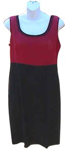 John Roberts short dress Red & Black Sleeveless on Tradesy