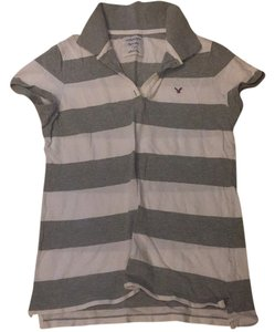 American Eagle Outfitters T Shirt Grey and white
