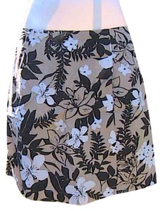 White Stag Brown Double Lap Skort Floral