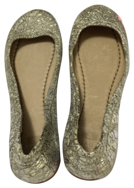 Item - Silver Multi Carson Ballet Cracked Leather Flats Size US 6 Regular (M, B)