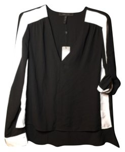 BCBGMAXAZRIA Bcbg Silk Trendy Dressy With Tags Never Worn Genuine Sale Top Black, white