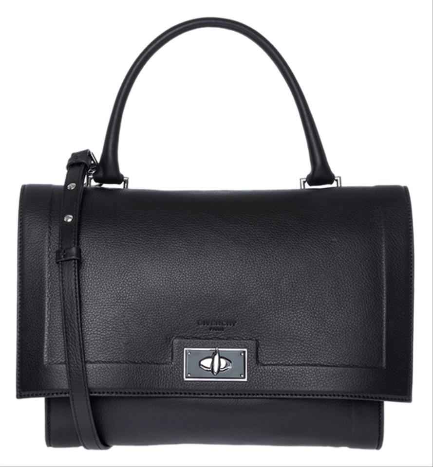 0e4045e229 Givenchy Small Shark Tooth Black Leather Satchel - Tradesy