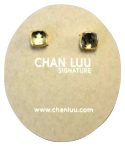 Chan Luu Chan Luu Blue Topaz Gold Stud Earrings