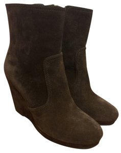 Prada Wedge Wedge Suede Brown Boots