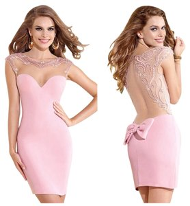 Tarik Ediz Size 4 Pink Cocktail Pencil Skirt Clothing Evening Prom Dress