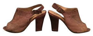 Mossimo Supply Co. Leather Western Chunky Brown Pumps