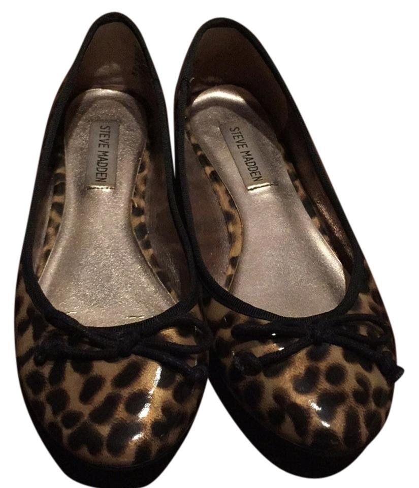 337bedd88a0 Steve Madden Cheetah Leopard Patent Leather Flats Size US 7.5 ...