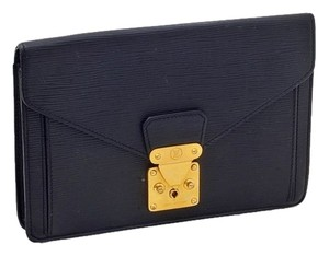 Louis Vuitton Epi Dragonne Black Clutch