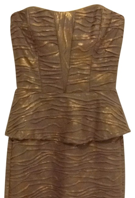 Item - Taupe/Grey Gold Above Knee Night Out Dress Size 2 (XS)