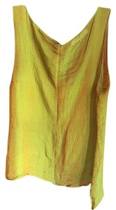 René Lezard Designer Fashion Date Night Silk Top greenish