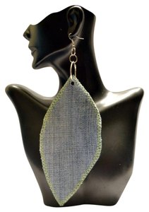 Uniqlo Custom UNiqNation Denim Leaf Dangles with Lime Green Stitching