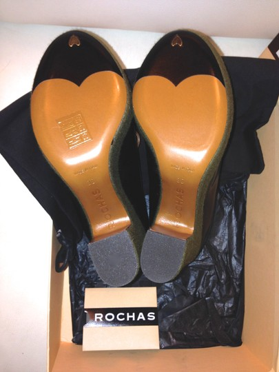 Rochas Prada Saint Laurent Acne Studios Chanel Chunky Multicolored (Black, brown, green) Wedges