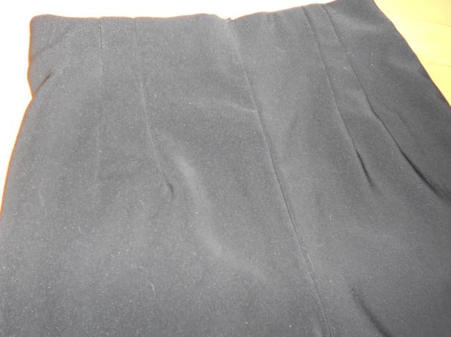 Russell Kemp Polyester Fitted Pleated Trouser Pants BLACK