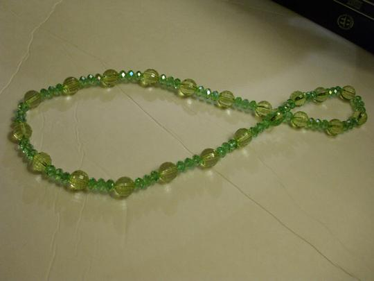 Other Sparkling green vintage lucite plastic beaded necklace -
