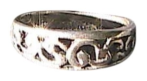 Sterling Silver Swirl Band Ring Size 6.25 (#110)